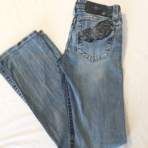 Miss Me Jeans Angel Wing Pocket Style JP5515B Boot